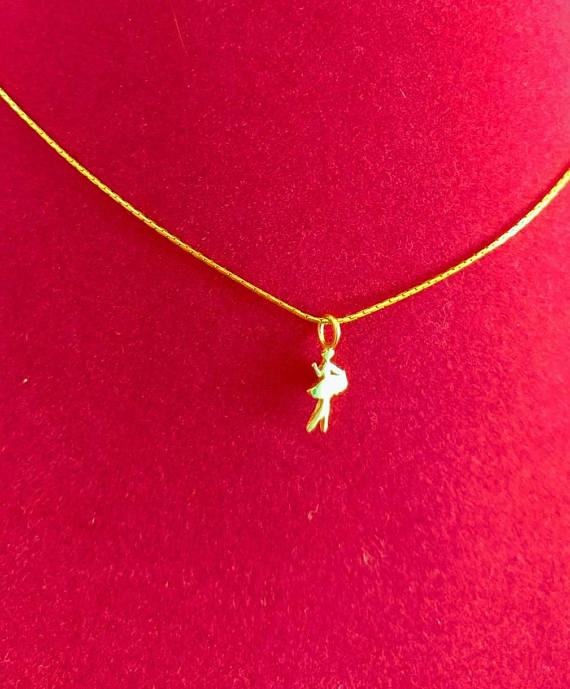 Tiny dancer gold ballet pendant dancer necklace gold ballerina home mozeypictures Image collections