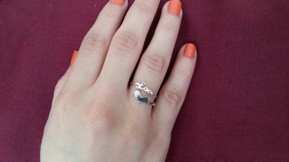 Tiny Love Heart Ring Valentine