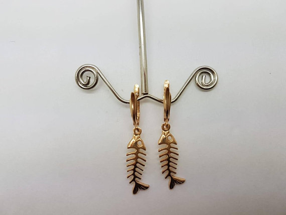 Home Jewelry Necklaces Gold Fish Earring