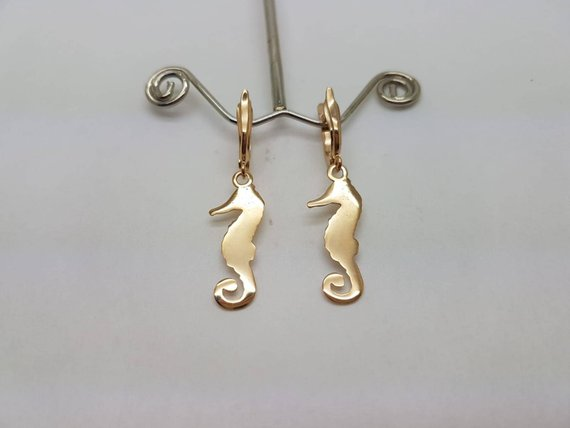 Home Jewelry Necklaces Gold Fish Earrings